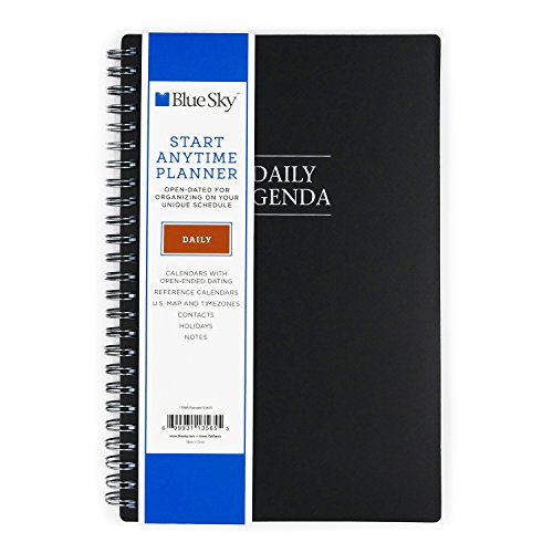 "Blue Sky Undated Daily Planner, Flexible Cover, Twin-Wire Binding, 5.5"" x 8.5"", Passages -  Blue Sky the Color of Imagination, LLC, 113565"