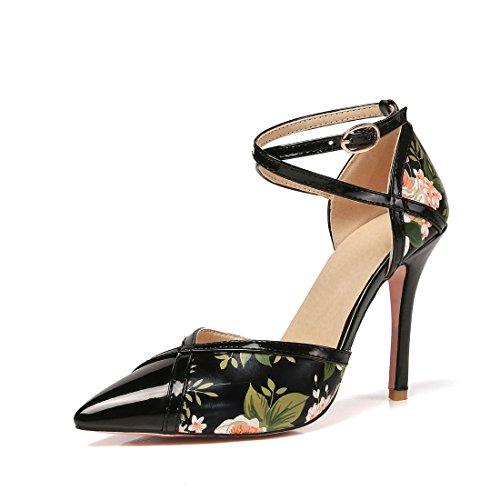 42 fibbie dei spillo sandali tacchi sexy e sandali i a black alti signore sandali tacchi sandali qxwH1nBFZ
