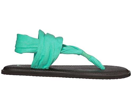 Sanuk Womens Yoga Sling 2 Metallic Flip Flop Opaal