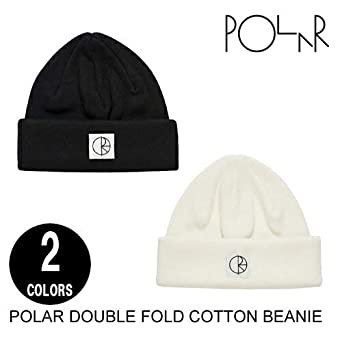 46ef190154f ポーラー POLAR SKATE CO. ポーラー DOUBLE FOLD COTTON BEANIE 2色 ニット帽 (IVORY