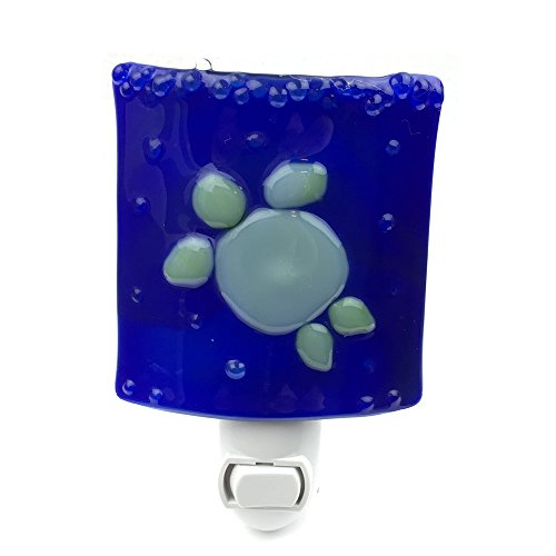 Light Turtle Fixture (Night Light, Dark Blue with Green Turtle, Home Accent)