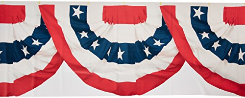 Stars and Stripes Fourth of July Party American Flag Bunting Border Roll Decoration, 1 Piece, Made from Plastic, 18