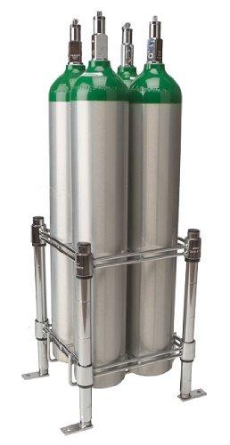 Stack & Rack Oxygen Tank Storage Rack - Holds 4 E Size Cylinders