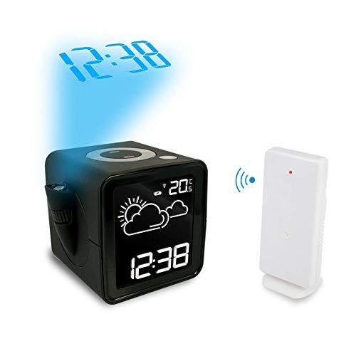 Sinzong Reloj Despertador Temperatura Humedad Reloj ...