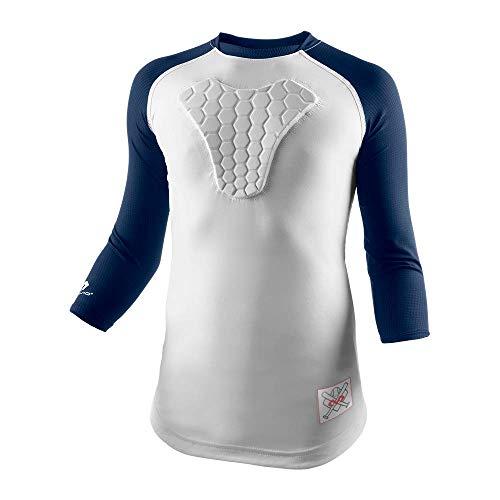 McDavid Youth HEX Sternum Raglan 3/4 Sleeve Shirt (Medium, ()