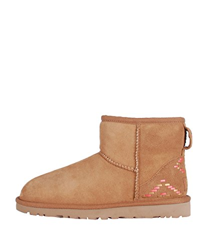 Mini Avec Eu Mouton Ugg Marron En 39 Brown Weave Bas Bottes Brun rx6WZqXvr
