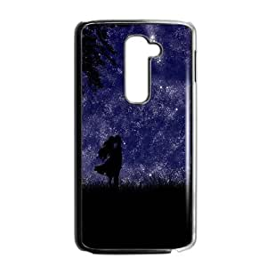 Calvin and Hobbes Starry Night LG G2 Cell Phone Case Black anhx