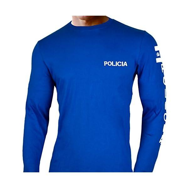 Aircops Camiseta Policia Manga Larga Hombre 2