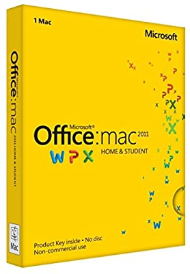 Office Home & Student - MAC - 2011 Key Card (1PC/1User)