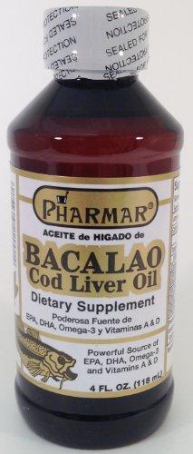 Aceite De Higado De Bacalao 4 Oz. Cod Liver Oil