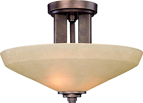 Light Northfield One (Dolan Designs 2705-90 Sherwood 2 Light Semi Flush mount, Sienna)