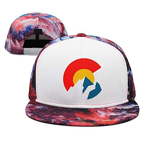 MADYI Colorado Flag United States Adjustable Hip Pop Mesh Trucker Hat Baseball Cap Snapback