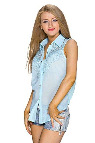 C MAGNIFIQUE - Camisas - Túnica - Básico - Sin mangas - para mujer turquesa