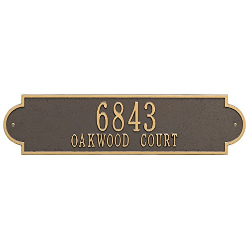 "Custom Richmond ESTATE Wall Address Plaque 25""W x 6""H (2 Lines)"
