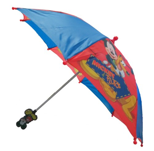 Disney Mickey Mouse Boy's Umbrella with 3D Handle, Bags Central