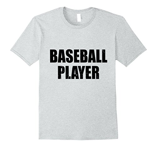 Mens Baseball Player Halloween Costume Party Cute & Funny T shirt Small Heather Grey