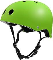 Skateboard Helmet, Kids/Adults Adjustable Helmet CPSC Certified for Multi-Sports Cycling Skateboarding Scooter