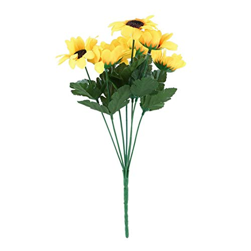 Chelsea Seven Heads Beauty Fake Sunflower Artificial Silk Flower Bouquet Yellow Yellow