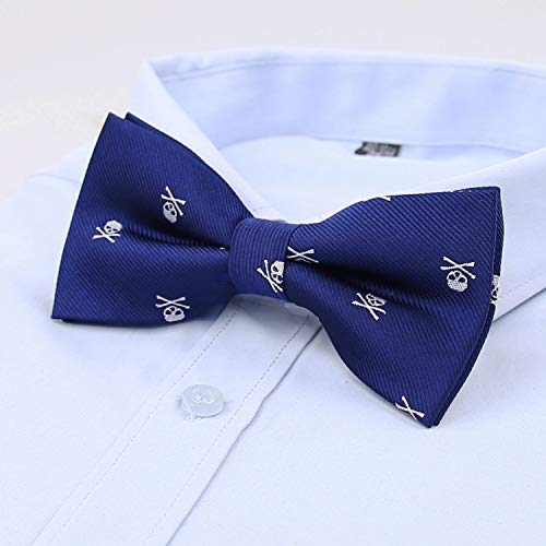 Tie Novelty Mens Blue Printed Navy Skull Pattern Alizeal Bow YvOPpnP