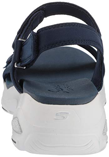 Skechers Cool Punta Para Azul camp Descubierta Nvy D'lites navy De Ultra Sandalias Mujer rwqrAC