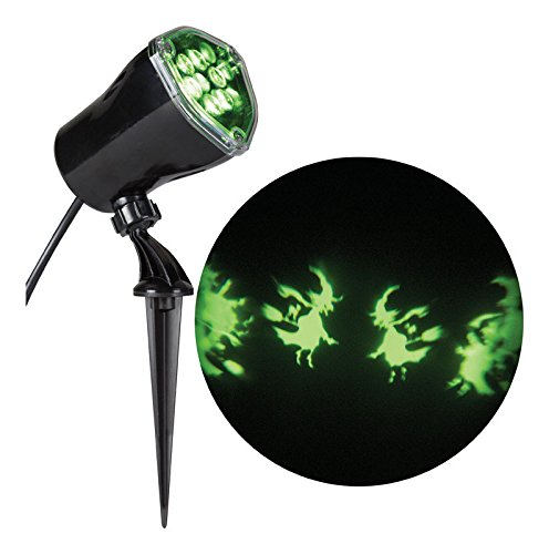 Gemmy Lightshow Whirl-A-Motion Witch Halloween LED Spot Light Projection Decoration ()