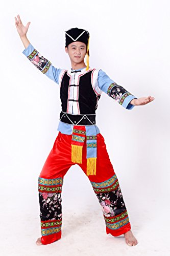 [Men Miao Clothing Chinese Hmong Clothes Ballroom Dance Costume] (Ballroom Costume For Men)