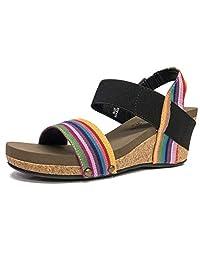 Corkys Bandit Women's Sandal (9 M US, Bright Multi)