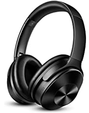 OneAudio Noise Cancelling Kopfhörer, Kabellose Bluetooth Kopfhoerer mit 30dB Hybrid Aktiver Geräuschunterdrückung & 30 Stunden Spielzeit & Integriertem Mikrofon Freisprechen Over Ear Headset