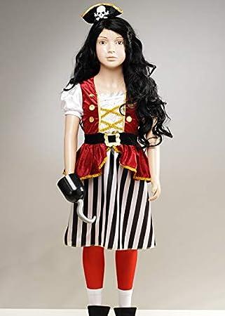 Magic Box Disfraz de Pirata para niña Captain Hook Style Large (10 ...