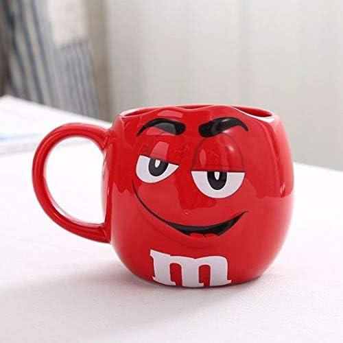 M&Ms Tazas Desayuno Originales Taza Tazon M & m expresión Cafe te Desayuno de cerámica de Gran Capacidad 650ml Vaso Vasos (Rojo): Amazon.es: Hogar