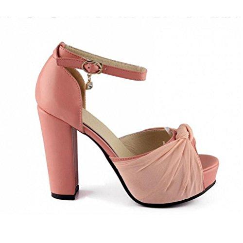 À Sandales Profonde Pink Taille 42 Chaussures 41 Boucle Peu 40 Plate Poissons Femmes Bouche Xdgg Étanche forme Fond Épais Princesse Talons 43 Grande ptxwq0Yfx
