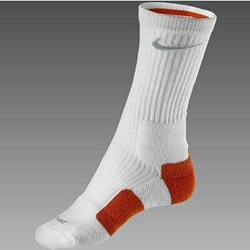 f804450f967 Nike Elite Basketball Crew Socks (1 Pair) - White Orange (Silver) -  UK7-11(L)  Amazon.co.uk  Sports   Outdoors