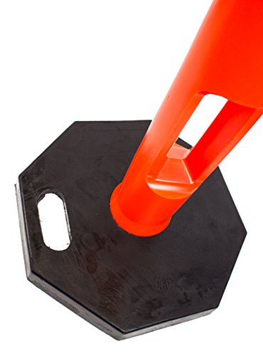(Pack of 5) RK DPOST2T Polyethylene Portable Delineator Post with 13 lbs Recycled Octagonal Rubber Base, 42'' Height, Orange by RK Industries Group, Inc. (Image #7)