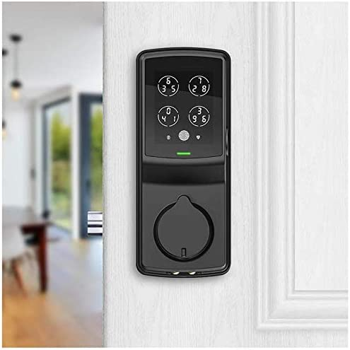 Lockly Secure Pro | Bluetooth Fingerprint WiFi Keyless Entry Smart Door Lock (PGD 728W) Patented Keypad | 3-D Fingerprint Reader | iOS and Android Compatible (Dead Bolt, Matte Black)