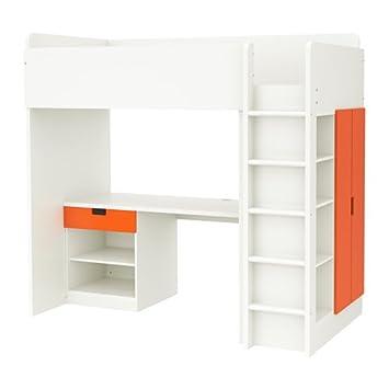 Ikea Cama Loft de tamaño Doble, 1 cajón/2 Puertas, Color Blanco ...