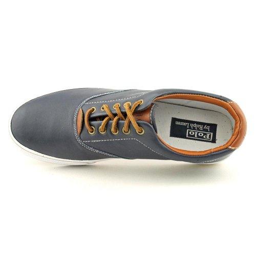 Polo Ralph Lauren Vaughn Mens Storlek 11 Blå Lädersportgymnastikskor