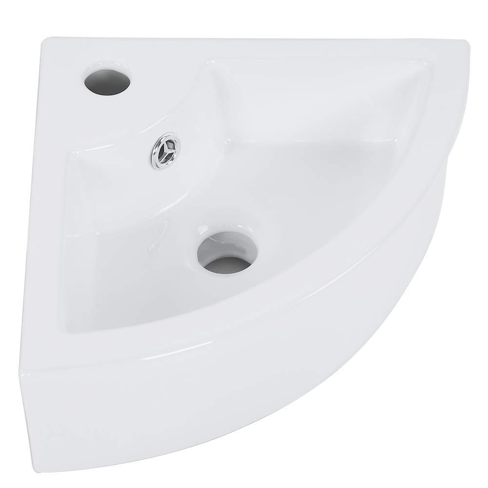 Lavabo sobre encimera lavabo para ba/ño Lavabo de lavamanos de cer/ámica con forma rectangular Lavabo sobre encimera Lavabo sobre encimera Lavabo blanco 37 x 19 x 10 cm