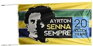 Ayrton Senna 20años commemortive bandera Banner 2,5x 5m 150x 75cm