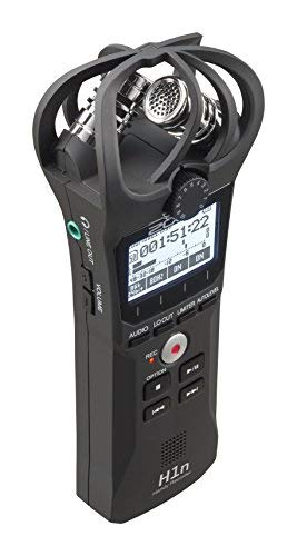 Zoom H1n Handy Portable Digital Recorder Bundle with Movo Deadcat Furry Outdoor Windshield