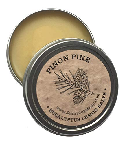 Pinon Pine Drawing Salve Eucalyptus & Lemon 2 oz Antibacterial Healing of The Southwest Minor Burns, Psoriasis Treatment & Eczema Relief for Dry Skin by Jenny Joy's Soap