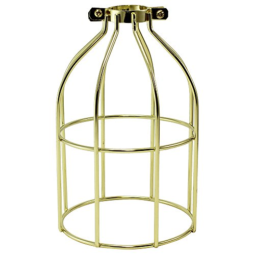 iLightingSupply 37-0107-10 Cage Premium Clamp-On Bulb Cage - Open Style - Polished Brasspolished Brass - Brass Cage