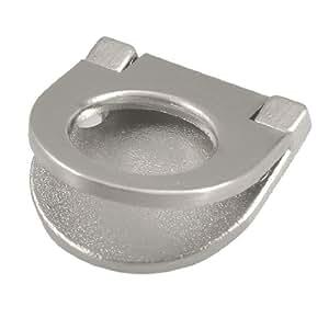 uxcellSilver Tone Metal Half Round Shape Cupboard Pull Handle Ring w Screw