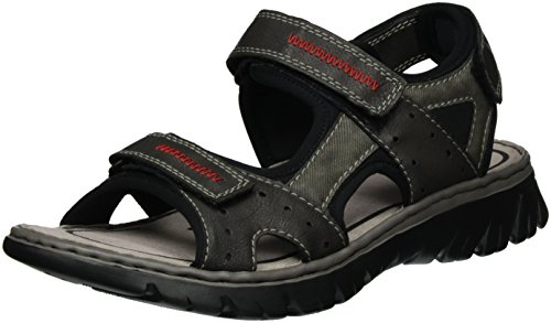 Rieker Men's Synthetic Sandals US 10 / EU 43 Grey, used for sale  Delivered anywhere in USA