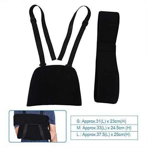 Écharpe de Bras Bandoulière Réglable avec Bandage Respirant Support de Bras pour Récupération de Fracture Épaules Blessé(S)