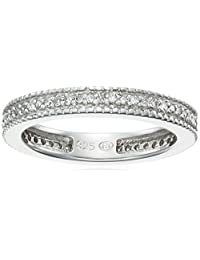 Sterling Silver Diamond Stackable Band Ring (1/4 cttw, J Color, I3 Clarity)