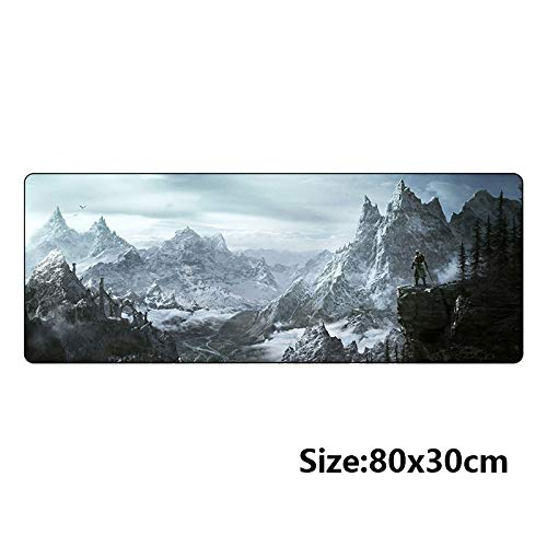 Gold Happy 80x30cm Popular host computer stand-alone game mouse pad for the elder scrolls v skyrim large gaming mousepad 800300mm