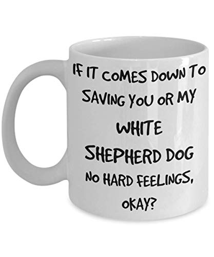 Funny White Shepherd Dog Mug - White 11oz 15oz Ceramic Tea Coffee Cup - Perfect For Travel And Gifts 1