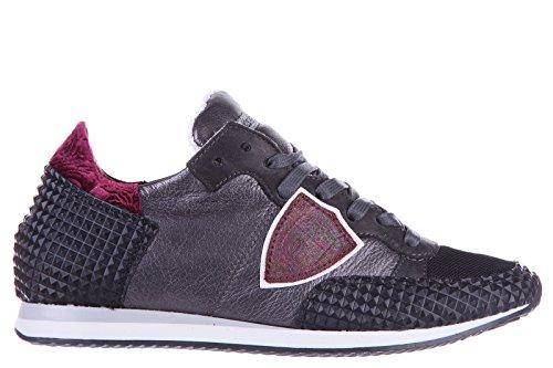Philippe Model scarpe sneakers donna in pelle nuove tropez pyramid grigio