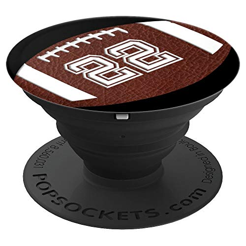 (American Football Player #22 Jersey No 22 Pop Socket Gift - PopSockets Grip and Stand for Phones and Tablets)