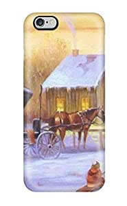 AnnaSanders Case Cover Protector Specially Made For Iphone 6 Plus 88 Christmas Scene